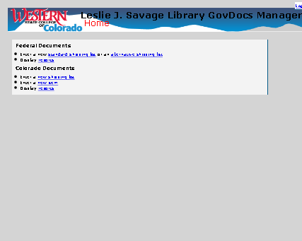 Screenshot of GovDocsManager Google App